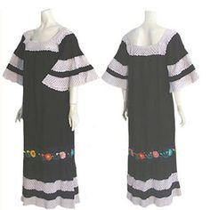 Vintage 70s  Mexican Crochet Pin Tucks Embroidered Festival Dress  #vintage #ebay #shopping