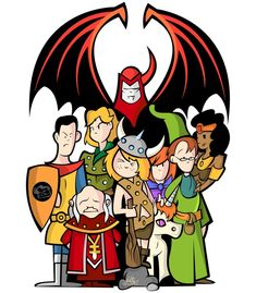 Dungeons And Dragons Cartoon, Cartoon Cartoon, Cartoon Characters, Space Ghost, Disney Monsters, Old School Cartoons, Beautiful Fantasy Art, Manga Illustration, Anime