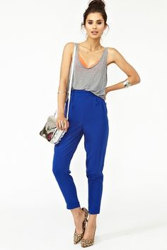"""I love how you can """"Casualize"""" an outfit with a simple """"lounging tank"""" and a printed pump.You can do anything with and outfit...it all depends on your mood."""