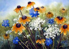 Wild Flowers 2 - Mary Gibbs - www.marygibbsart.com