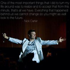 Nick Carter of Backstreet Boys. Yeah Nick!