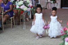 Barthall Daniels Wedding Grand Marquise Ballroom Garner, NC Flower girls www.eventsbysf.com