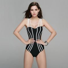 LE BESI New Summer Sexy Style One Piece Swimsuit For Women Plus Size Push Up Strapless Swimwear Brazilian Bandage Beachwear