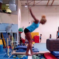 Danusia training a sideways side aerial (gif by allyoursecrets) // Shes amazing. The end.