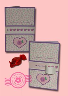Secret Message Valentine. Tear the strip to reveal the text. http://thepapercraftpost.blogspot.co.uk/2015/02/secret-message-valentine.html