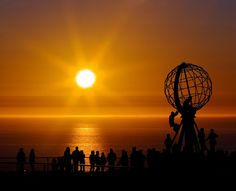"""The Midnight Sun on North Cape""  by Bjorn Hovdal of Trondheim, NORWAY"