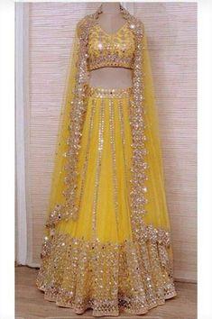 Bridal Mehndi Dresses, Party Wear Indian Dresses, Indian Gowns Dresses, Indian Bridal Outfits, Party Wear Lehenga, Indian Fashion Dresses, Indian Designer Outfits, Wedding Dresses, Indian Bridal Wear