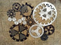Gears Art, Industrial, Steampunk Wall Decor Made to Order