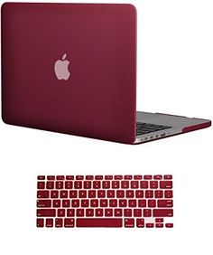 """Vasileios 2in1 Frosted Matte Silky-smooth Satins Soft-touch Hard Shell Case Cover for Apple 13-inch Macbook Pro 13.3"""" with Retina Display (Model A1502/ A1425) (Wine Red) Vasileios"""