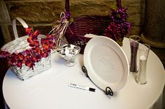 Ceramic plate wedding guestbook - an alternative to last a lifetime.