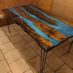 Hand Carved River Raw Edge Wood Slab Coffee or Dining Table, Desks, end table or shelf. Liquid glass rivers filled with stones or without Solid Wood Bed Frame, Sand Glass, Clear Epoxy Resin, Coffee Table Legs, Glass Center, Wood Slab, Dining Table In Kitchen, How To Make Bed, Raw Edge