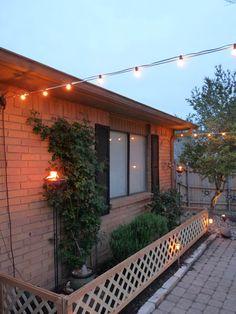 The Happy Homebodies: DIY: Custom Garden Fence