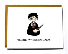 Harry Potter Valentine, Funny, Geeky Valentine's Day card, Chosen One
