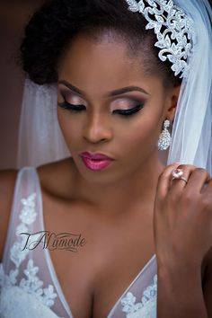 Nigerian Bridal Natural Hair and Makeup Shoot - Black Bride - BellaNaija 2015 12 love her makeup