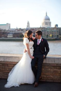 Gorgeous London wedding with St Paul's Cathedral in the background