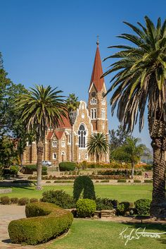 Church in Windhoek, Namibia, South Africa Wonderful Places, Beautiful Places, Land Of The Brave, Cap Vert, Namibia, Les Continents, Safari, Cathedral Church, Old Churches