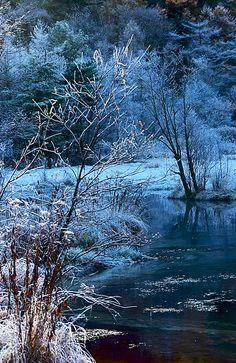 Blue scenery - Tashiro pond, Kamikochi, Matsumoto, Nagano, Japan