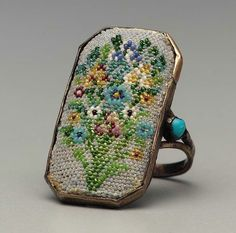 dulceyheller: Beaded ring, made in France. I would SO wear this! I