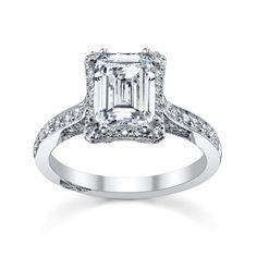 Tacori Crescent Wedding Band 88 Unique Emerald cut engagement rings