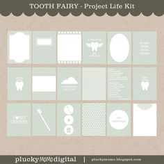 TOOTH FAIRY Journaling Cards for Project Life | Plucky Momo