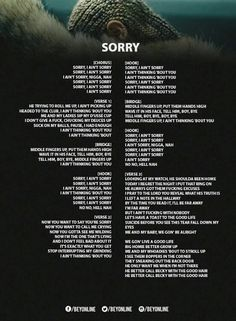 Sorry lyrics