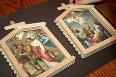 Stations of the Cross Craft - we probably won't do this craft but it is a reminder to pray the stations of the cross during Holy Week March 2013
