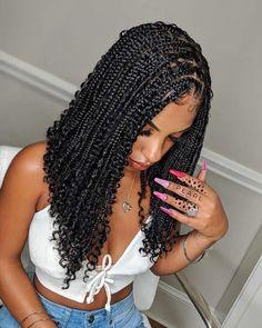 Box Braids Hairstyles For Black Women, Twist Braid Hairstyles, Dope Hairstyles, Braids For Black Hair, Black Braided Hairstyles, Black Girl Braids, Black Hairstyles Braids Pictures, Hairstyle Short, Braids For Black Women
