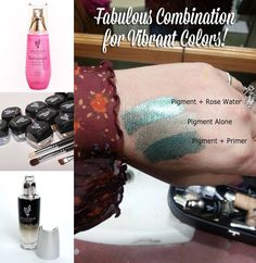 Younique has fabulous shimmer & matte mineral pigment colors.  It is AMAZING how much Younique's Rose Water & Younique's makeup primer, Glorious, makes the colors even more vibrant!!