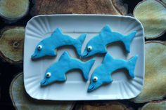 Dolphin Cookies - Under the Sea Party! Mattia 6 BDay!