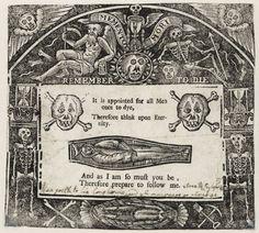 "{ Morbid Anatomy: ""Memento Mori Remember to Die,"" Woodcut, Folger Shakespeare Library, Washington DC } Peter Paul Rubens, Francisco Goya, Vanitas, Dr Facilier, Memento Mori Art, La Danse Macabre, Macabre Art, Dance Of Death, Cemetery Art"