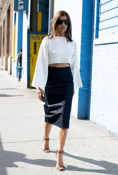 Carine Roitfeld at #NYFW #StreetStyle  #shegetsit