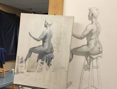 A student's figure study drawing and painting from Teaching Studio's founder Rob Zeller's Figure Drawing Atelier. The spring semester is about to start and students are able to sign up for our spring semester which runs April 4 - June 26. Rob Zeller is once again teaching the figure atelier every Wednesday 11am-2pm 3-6pm and 6:30pm-9:30pm. The morning and afternoon are with the same model in the same pose; the evening session uses a different model taking a different pose. Students deciding…