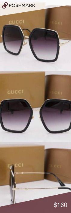 2852f45bc7d Brand New Gucci Sunglasses GG 0106 S Black Gold Gr Gucci