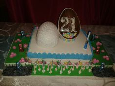 Easter 21st birthday cake