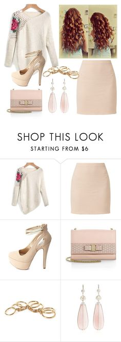 """""""Untitled #139"""" by sara-bitch1 ❤ liked on Polyvore featuring Charlotte Russe, Salvatore Ferragamo, Forever 21 and NSR Nina Runsdorf"""