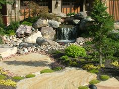 Front entry water feature in Draper Utah