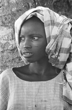 Yoruba girl with headtie, Meko, Nigeria,1970