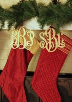 I love love love these, as an alternative to getting stocking monogrammed every time you get new ones!