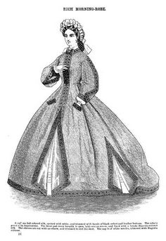 Rich Morning Robe ~  Godey's Lady's Book, January 1864