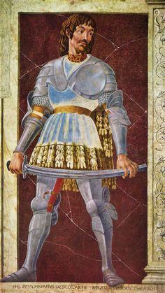 ❤ - ANDREA DEL CASTAGNO (1421 - 1457) - Portrait of the Condottiere Pippo Spano.