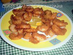 Cinco sentidos na cozinha: Camarões panados com alho, coentros e parmesão