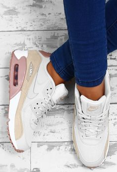 brand new 65109 57355 Nike Air Max 90 White Multi Trainers Zapatos Cómodos, Zapatillas Mujer,  Zapatillas Nike Air