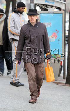 Ethan Hawke walking around Chelsea with new blonder hairstyle in New York City - Jan 17, 2013 - Photo: Runway Manhattan/310pix