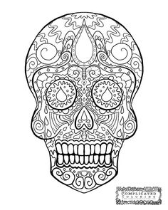 Sugar Skull Abstract Doodle Zentangle Coloring Pages Colouring Adult Detailed Advanced Printable Kleuren Voor Volwassenen Coloriage