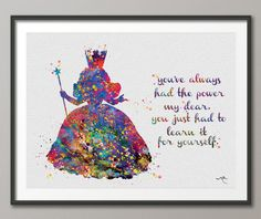 Glinda the Good Witch Wizard of Oz Watercolor print by CocoMilla