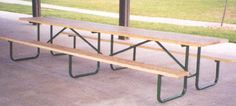 10-Ft. Specialty Wood Picnic Table - 16-Gauge Galvanized Metal Frame,PRE-DRILLED