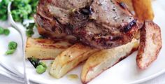 Chuletas Barnsley con patatas y guisantes http://www.carnivorosgourmet.es/ver_recetas_sencillas.php?id_receta=397 #recetas #gastronomía