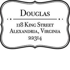 Return Address Stamp in Self-Inking or Wood Mounted Rubber for Weddings and Correspondence Custom Stamp No 212