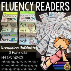 144 CVC WORDS: FLUENCY READERS - Enter for your chance to win this fantastic set of 144 CVC fluency readers/accordion-style foldables! Your kids will love you for it!.  A GIVEAWAY promotion for PHONICS: FLUENCY READERS: CVC WORDS from TeachToTell on TeachersNotebook.com (ends on 8-16-2016)