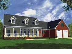 Country House Plan with 1800 Square Feet and 3 Bedrooms(s) from Dream Home Source   House Plan Code DHSW38573